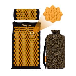 Набор: массажный коврик и валик Comfox - Черный