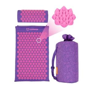 Набор: массажный коврик и валик Comfox - Фиолетовый