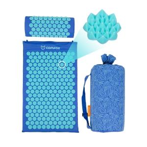 Набор: массажный коврик и валик Comfox - Синий