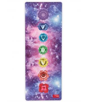 Каучуковый коврик с покрытием из микрофибры Namaste Team 183*68*0,4 см - Space Chakras
