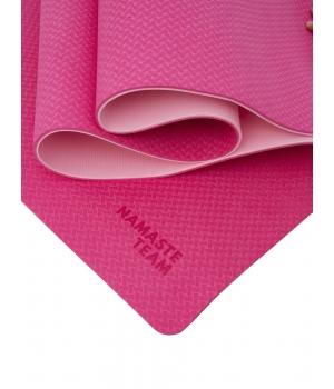 Коврик для йоги Namaste Team Sweets из ТПЕ 183*61*0,6 см - Маршмеллоу