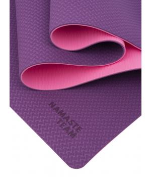 Коврик для йоги Namaste Team Sweets из ТПЕ 183*61*0,6 см - Бабл гам