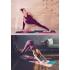Коврик для йоги из ПВХ POSA AsanaDaily 183*61*0,6 - Geometry 17