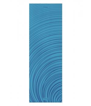 Каучуковый коврик для йоги с покрытием Non-slip POSA NonSlipPro 183*61*0,35 - Ripple Blue