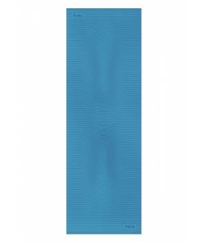 Каучуковый коврик для йоги с покрытием Non-slip POSA NonSlipPro 183*61*0,35 - Strings Blue