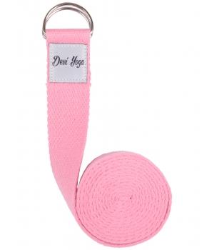 Ремень для йоги Devi Yoga 200*3,8 см - розовый