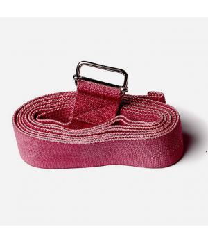 Ремень для йоги из хлопка 270см 4см красный