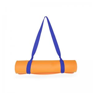 Стяжка для коврика для йоги нейлоновая синяя