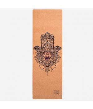 Коврик для йоги Hamsa YC из пробки и каучука