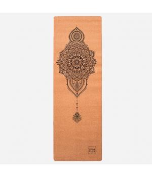 Коврик для йоги Mehendi YC из пробки и каучука