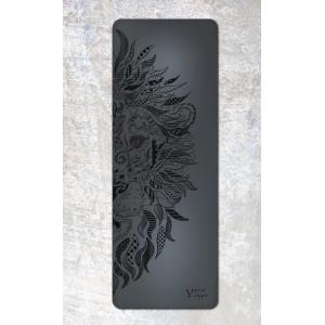 Каучуковый коврик с покрытием Non-slip Your Yoga 183*65*0.4 см - Lion black