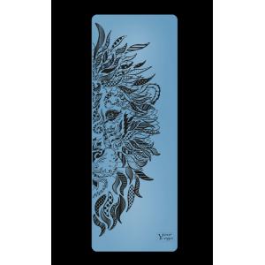Каучуковый коврик с покрытием Non-slip Your Yoga 183*65*0.4 см - Lion blue