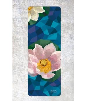 Каучуковый коврик для йоги с покрытием из микрофибры Your Yoga 178*61*0.3 см - Lotus