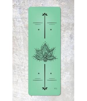 Каучуковый коврик с покрытием Non-slip Your Yoga 183*65*0.4 см - Lotus Green