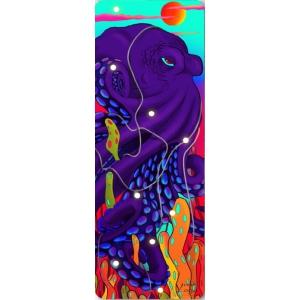 Каучуковый коврик для йоги с покрытием из микрофибры Your Yoga 178*61*0.3 см - Octopus