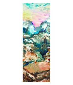 Каучуковый коврик для йоги с покрытием из микрофибры Your Yoga 178*61*0.3 см - Tibet
