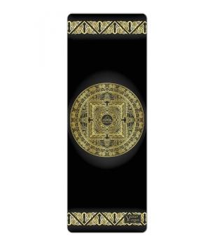 Каучуковый коврик для йоги с покрытием из микрофибры Your Yoga 178*61*0.3 см - Tibet Mandala