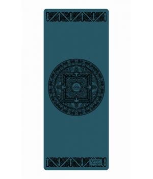 Каучуковый коврик с покрытием Non-slip Your Yoga 183*65*0.4 см - Tibet mandala blue